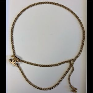 Chanel Gold Chain Belt with 2 Enamel CC